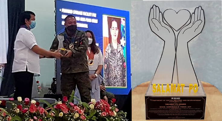 """DSWD """"Salamat Po Award"""" merits 1st Infantry """"Tabak"""" Division Officers in Cagayan de Oro"""