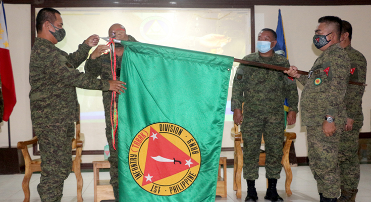 Army's 1ID units, awardees for Campaign Streamer