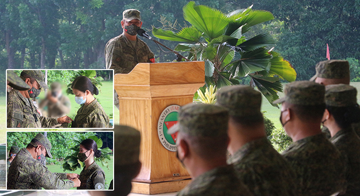 TABAK DIVISION DON RANKS TO RESERVISTS, MEDICAL FRONTLINE OFFICERS