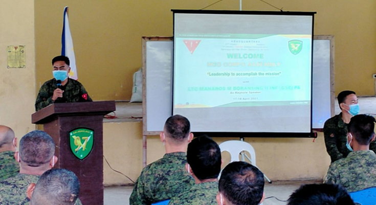 NCO LEADERSHIP: ARMY'S 97TH IB HOLDS NON-COMMISSIONED OFFICERS CORPS ASSEMBLY