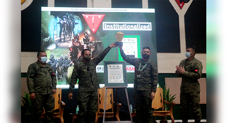 Tabak Division was Conferred with Institutionalized Stage in Army Governance Pathway